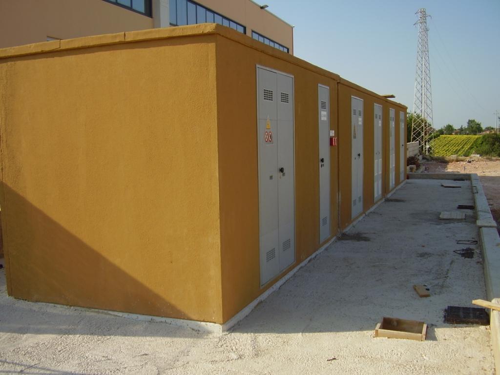 CABINE ELETTRICHE PREFABBRICATE (Edificio industriale Marsciano-PG)