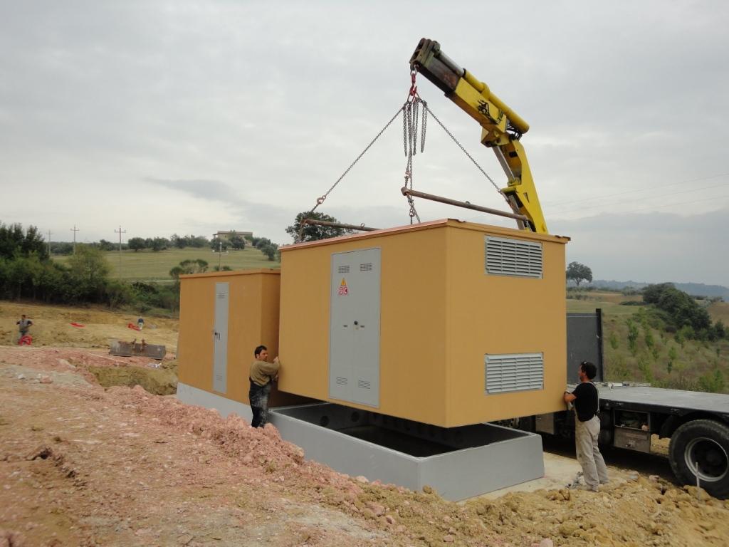 CABINE ELETTRICHE PREFABBRICATE (Impianto fotovoltaico Collazzone-PG)