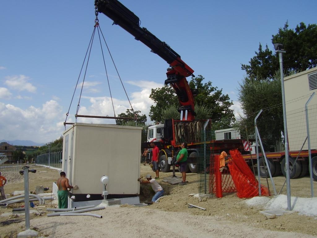 CABINE ELETTRICHE PREFABBRICATE (Impianto fotovoltaico Monsampietro FERMO)